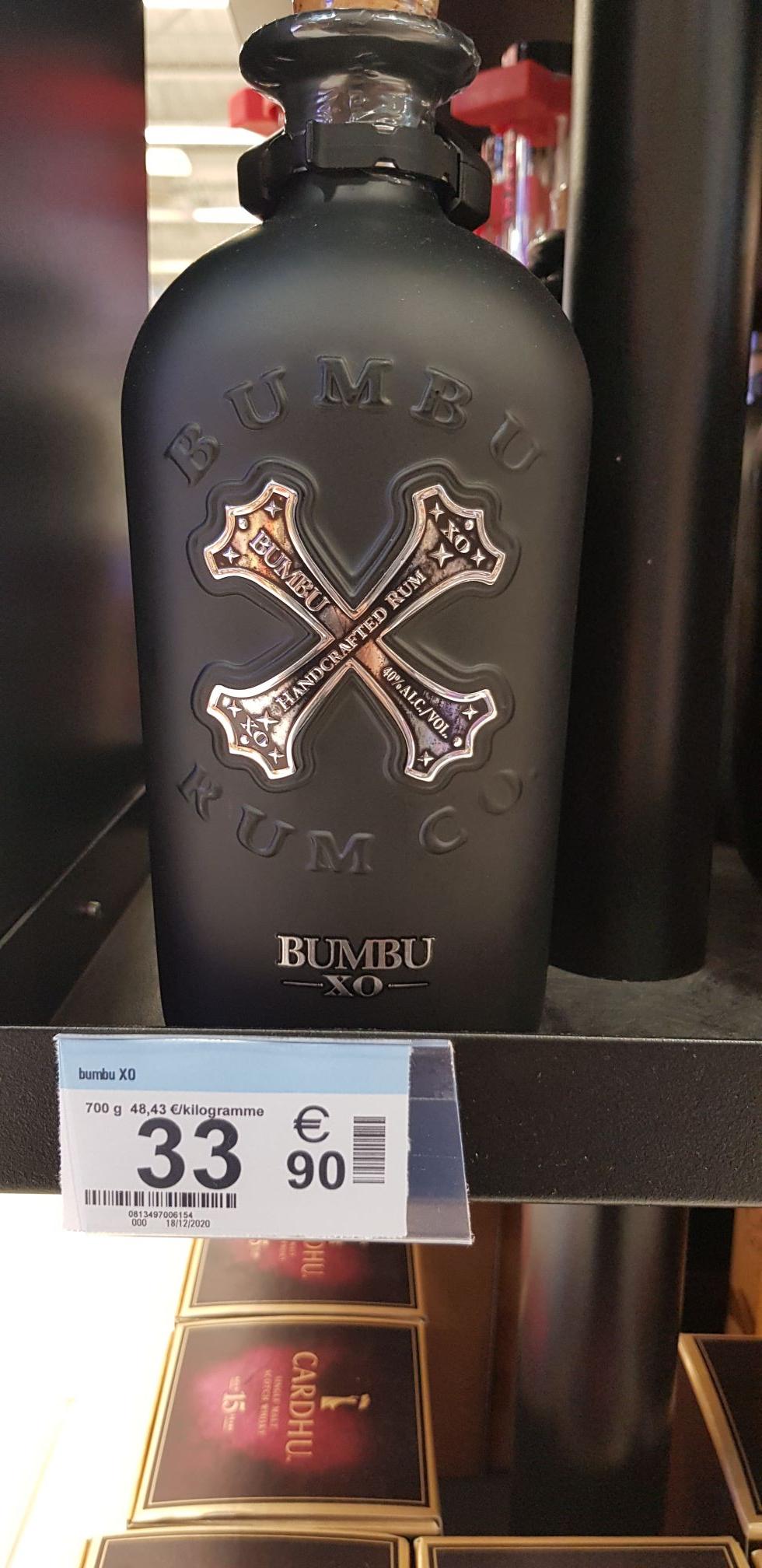 Bouteille Rhum Bumbu XO 70 cl - Villiers en Bière (77)