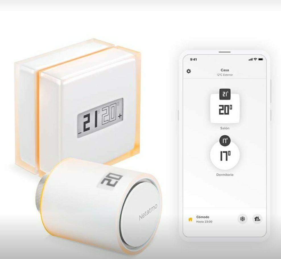 Thermostat connecté Netatmo + 1 tête thermostatique