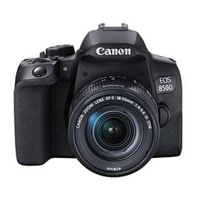Appareil-photo Canon EOS 850D + Objectif EF-S 18-55mm F4-5.6 IS STM