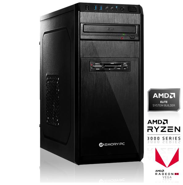 PC fixe - Ryzen 3 3200G, 8 Go RAM, Vega 8, 120Go SSD + 1 To HDD, sans OS, Alim. 550 W