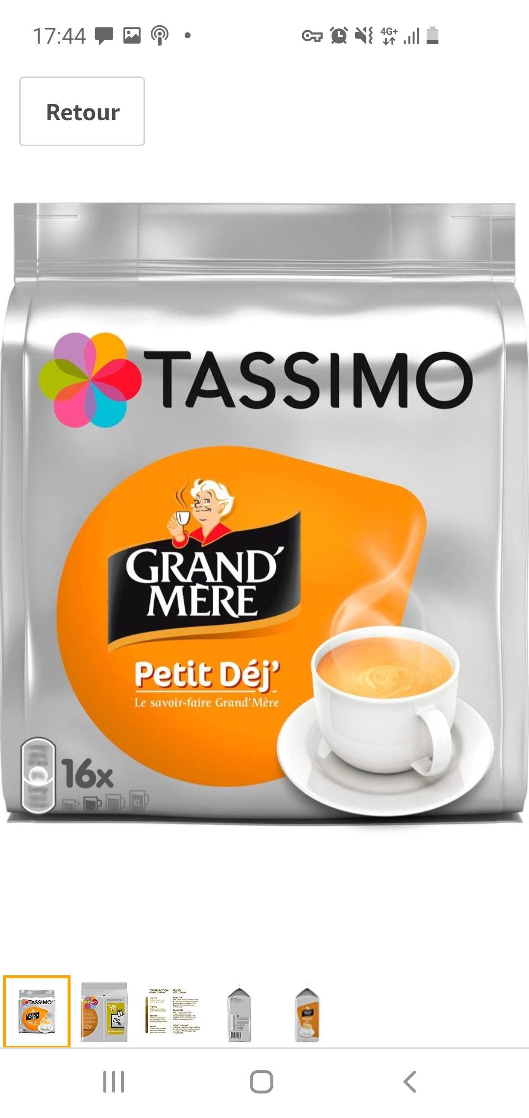 Lot de 5 Paquets de 16 Dosettes Tassimo Grand Mère Petit Déjeuner - 80 Boissons (lot de 5 x 16 boissons)