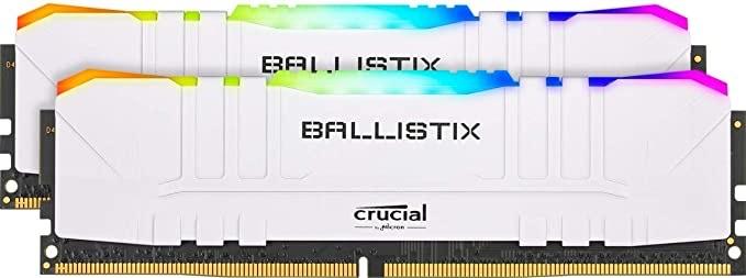 Kit mémoire RAM Crucial Ballistix RGB (BL2K8G32C16U4WL) - 16 Go (2 x 8 Go), DDR4, 3200 Mhz