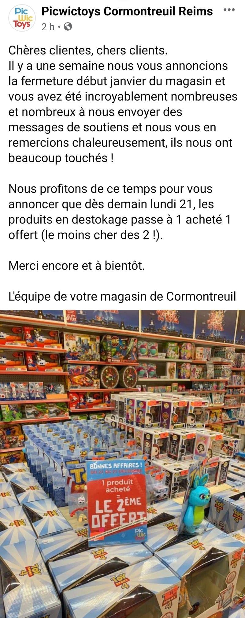 1 article acheté parmi une sélection = le deuxième offert (Le moins cher des deux) - Cormontreuil (51)