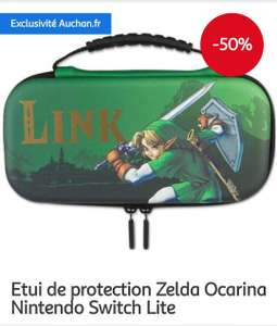 Etui de protection Zelda Ocarina Nintendo Switch Lite