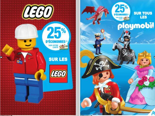 25% crédités sur la carte Waaoh sur la gamme Lego et Playmobil