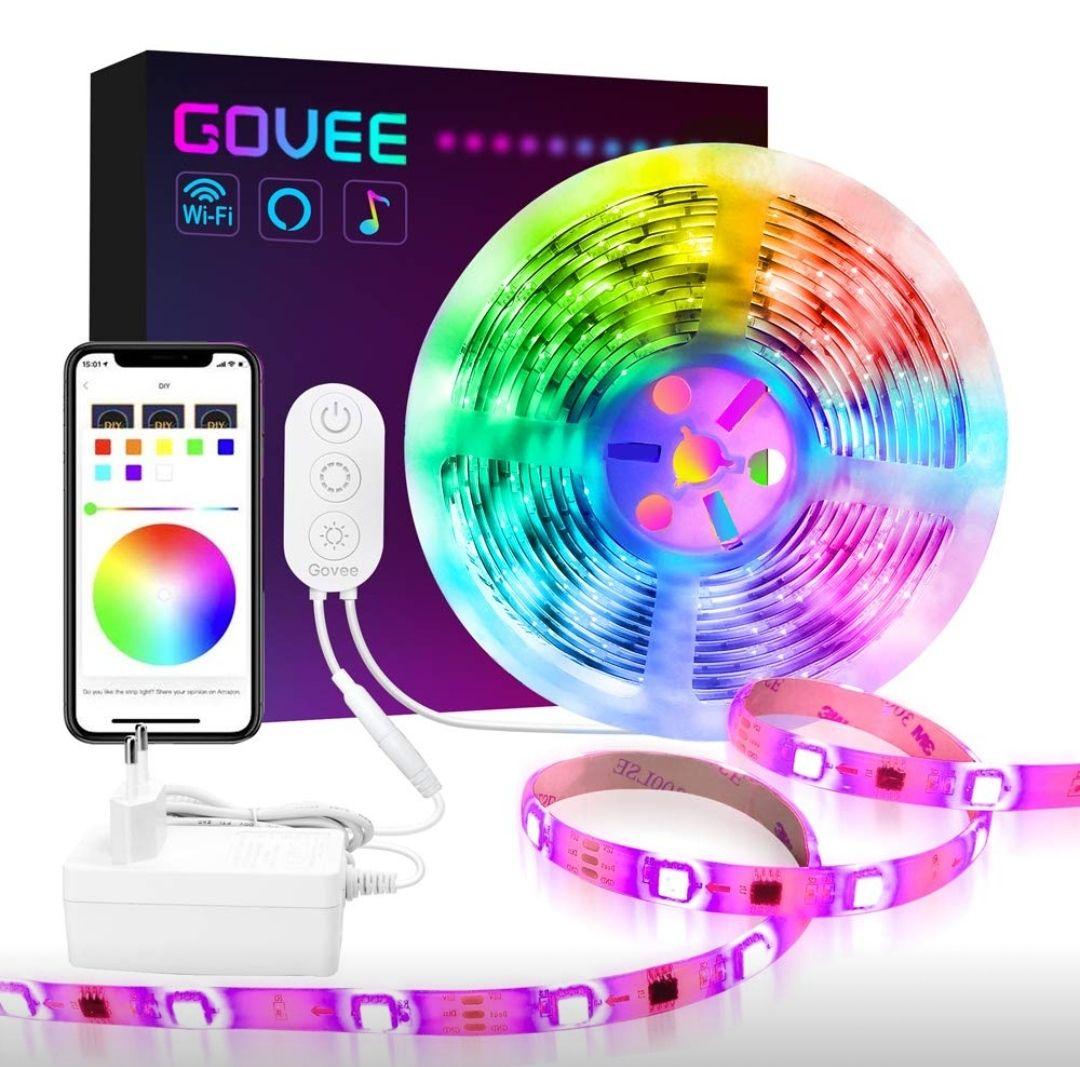 Ruban LED WiFi Govee Smart Dreamcouleur - 5M, 12V 2A (Vendeur Tiers)