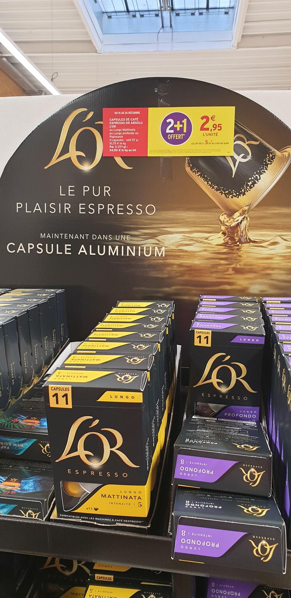 Lot de 3 Boîtes de 11 capsules L'Or Nespresso (33 capsules) - Orchies (59)