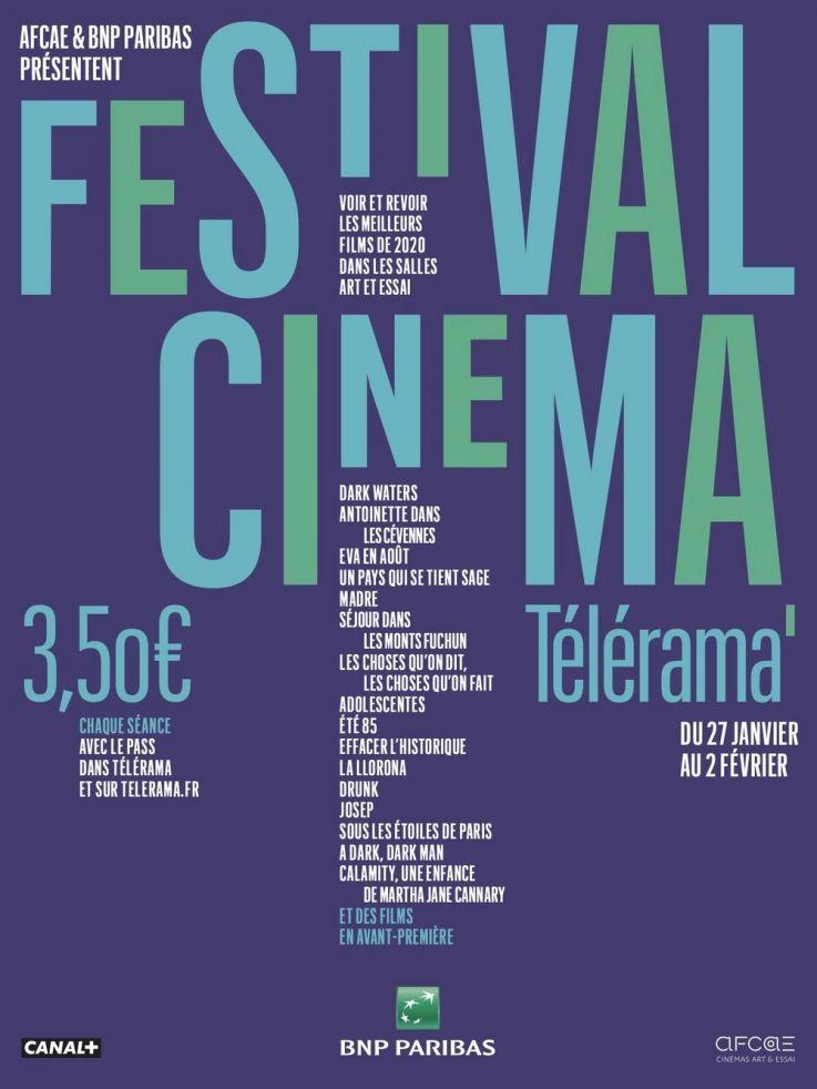 Billet de cinéma à 3.5€ parmi une sélection de films avec le Pass Télérama offert pour 2 personnes (du 27/01 au 02/02) - We Love Cinema