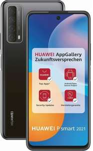 "Pack smartphone 6.67"" Huawei P Smart 2021 (full HD+, Kirin 710, 4 Go de RAM, 128 Go, noir, sans services Google) + mini-enceinte Bluetooth"