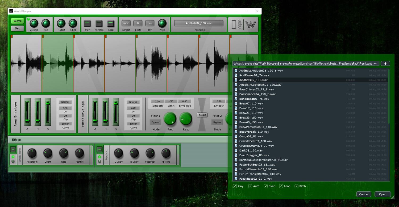 Plugin Wusik DLooper gratuit sur PC & Mac (Dématérialisé - VST / AU) - Wusik.com