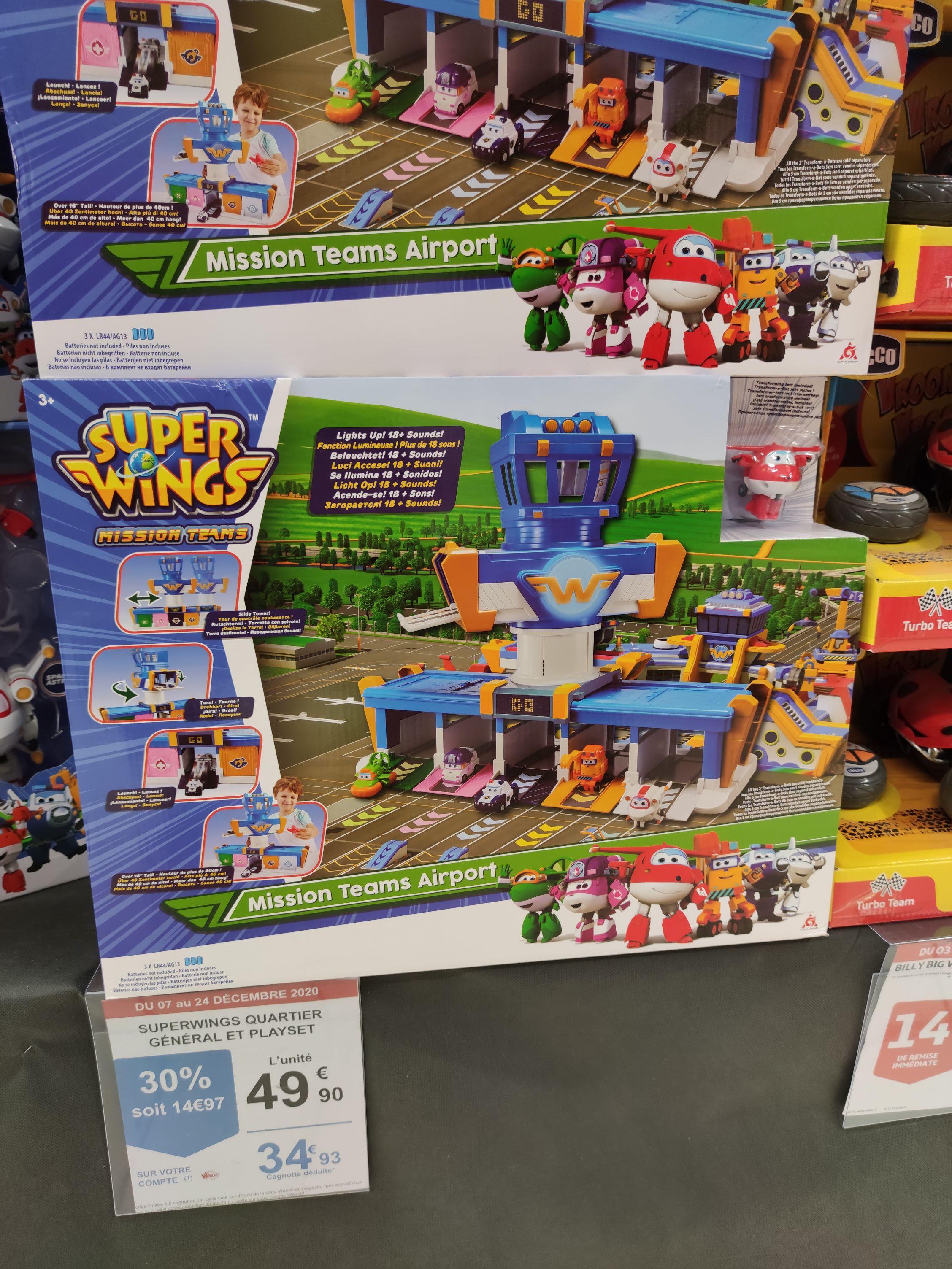 Sélection de jouets en promo - Ex: Station de jeu SuperWings Quartier Général et Playset (via 14.97€ sur la carte) - Longuenesse (62)