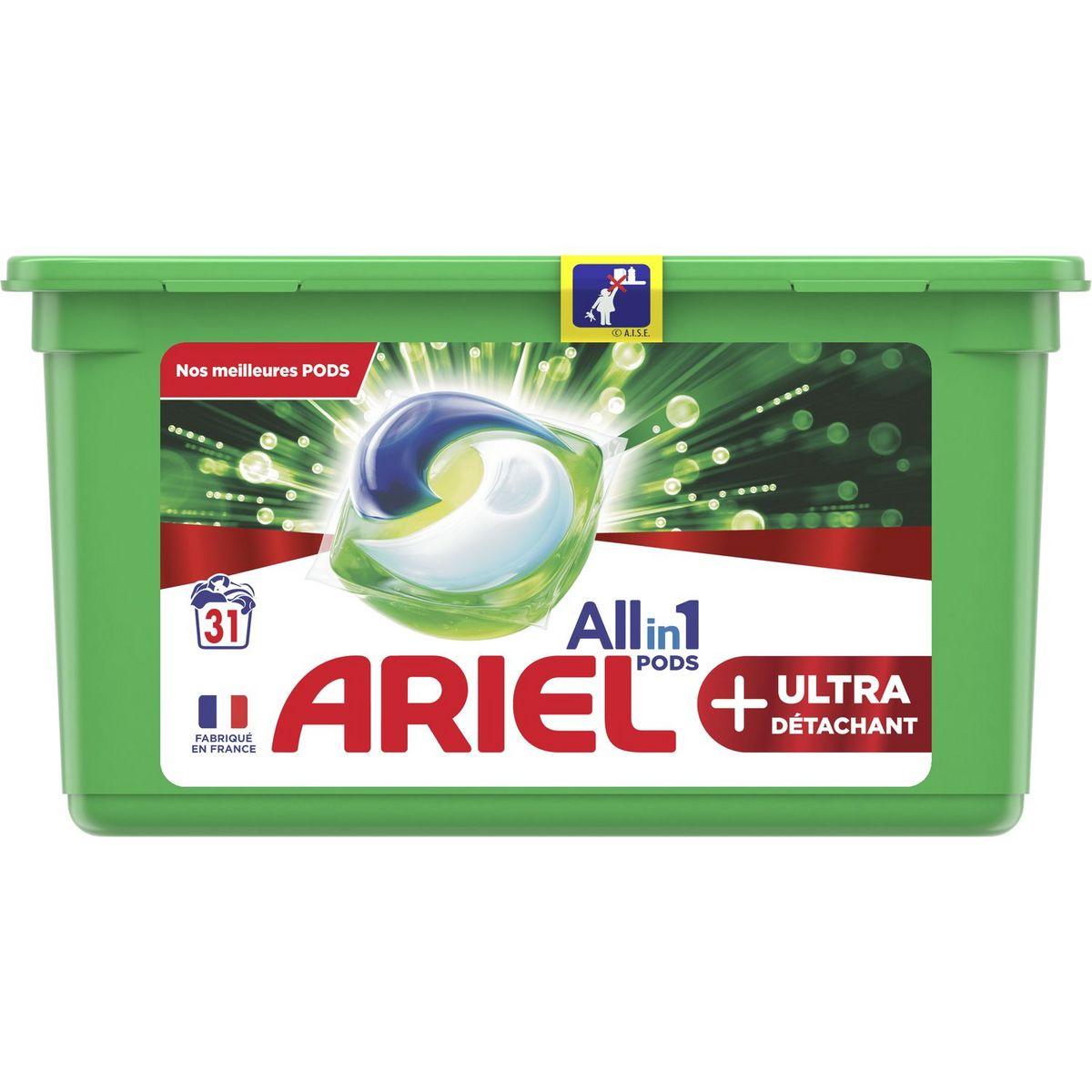 Boite de lessive en capsules Ariel All-in-1 Pods+ 31 lavages (via 8.91€ sur la Carte de Fidélité) - Magasins participants