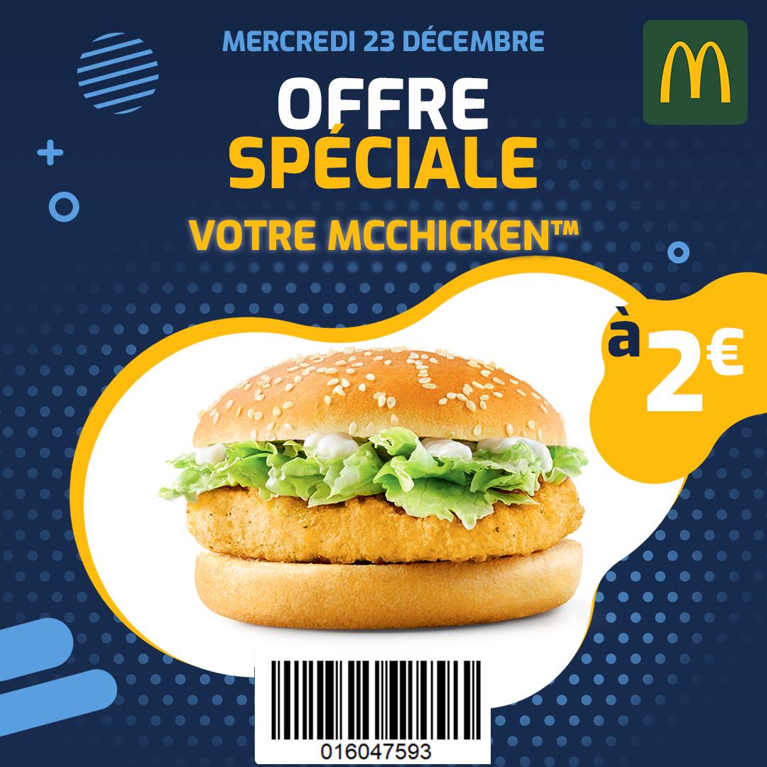 Le Sandwich McChicken à 2€ - Quai des Marques Bordeaux (33)