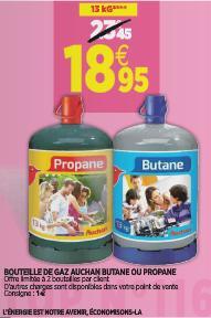 Bouteille de Gaz 13 kg - Butane ou Propane