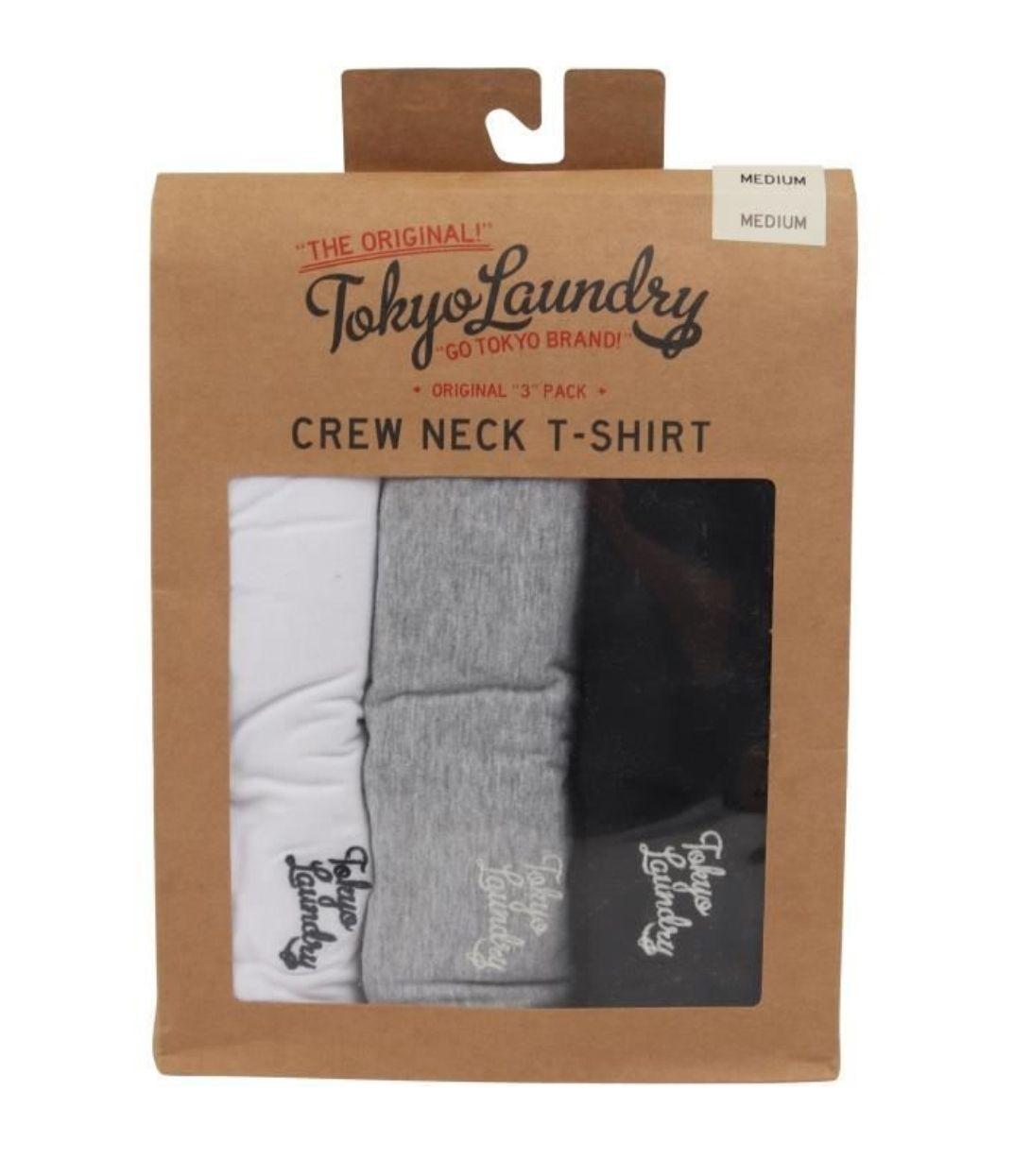 Pack de 3 T-shirt col rond Tokyo Laundry - Taille S et XL