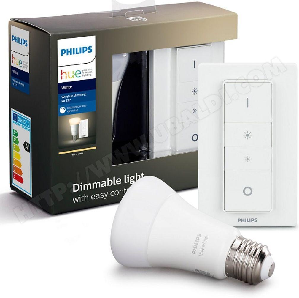 Lumière connectée Philips HueWhite Dim - 9.5W, E27 + Dim