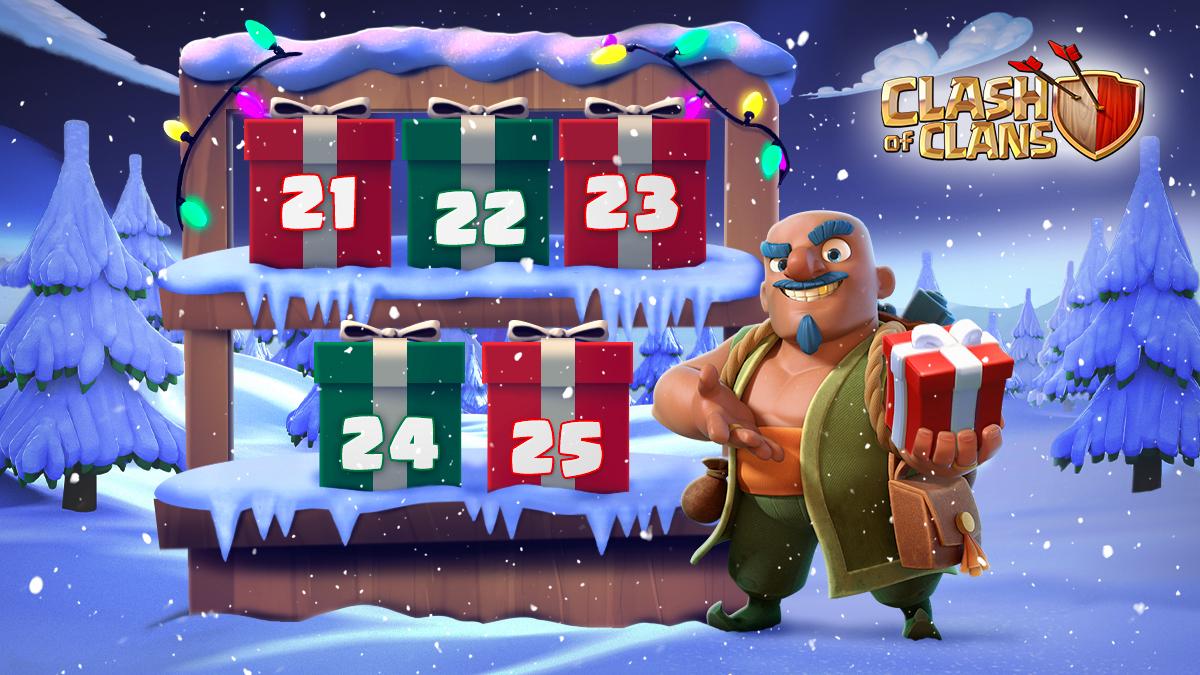 Sélection d'objets magiques gratuits jusqu'au 25 décembre 2020 pour Clash of Clans sur Android & iOS (Dématérialisés)