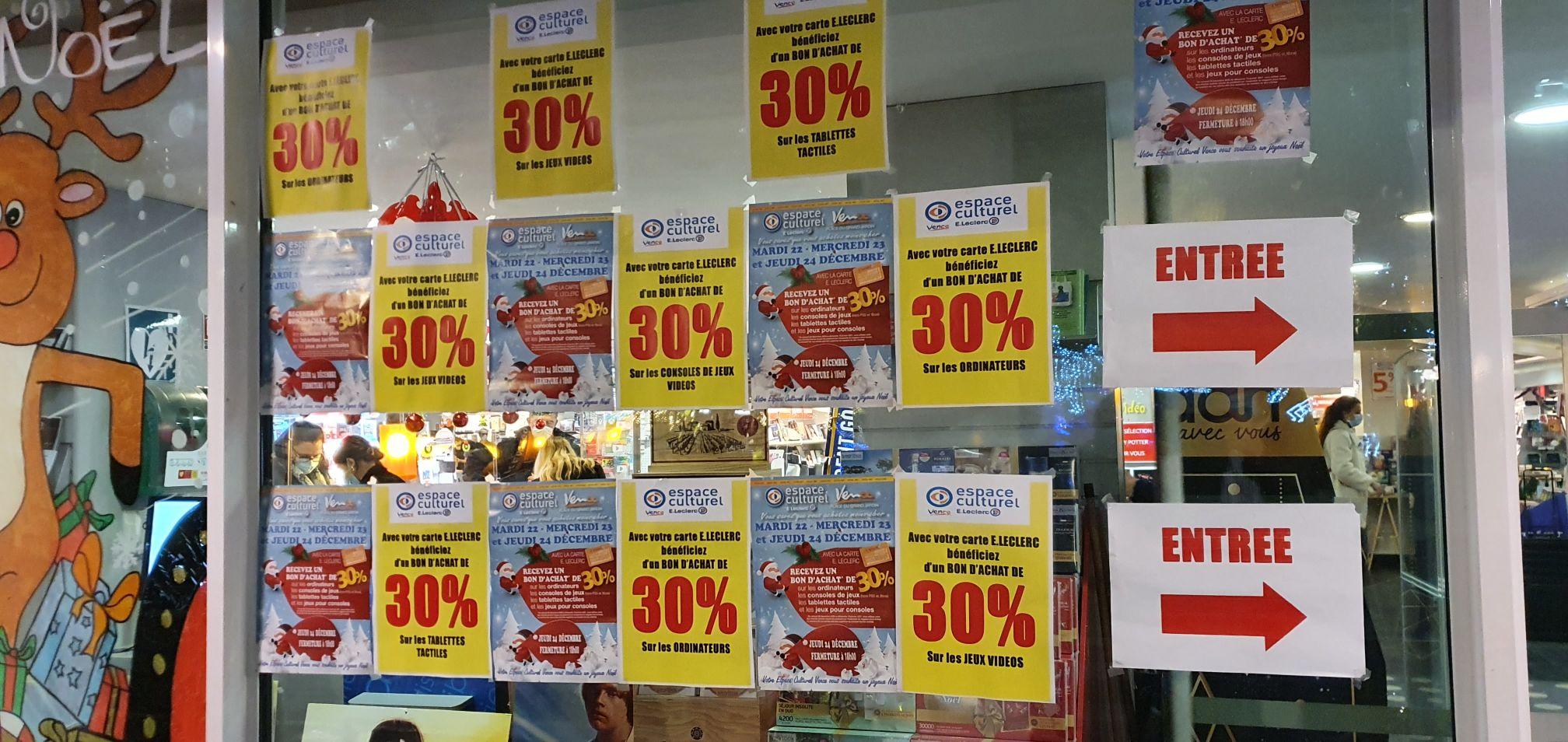 30% remboursés en bons d'achat sur une sélection de rayons - Vence (06)