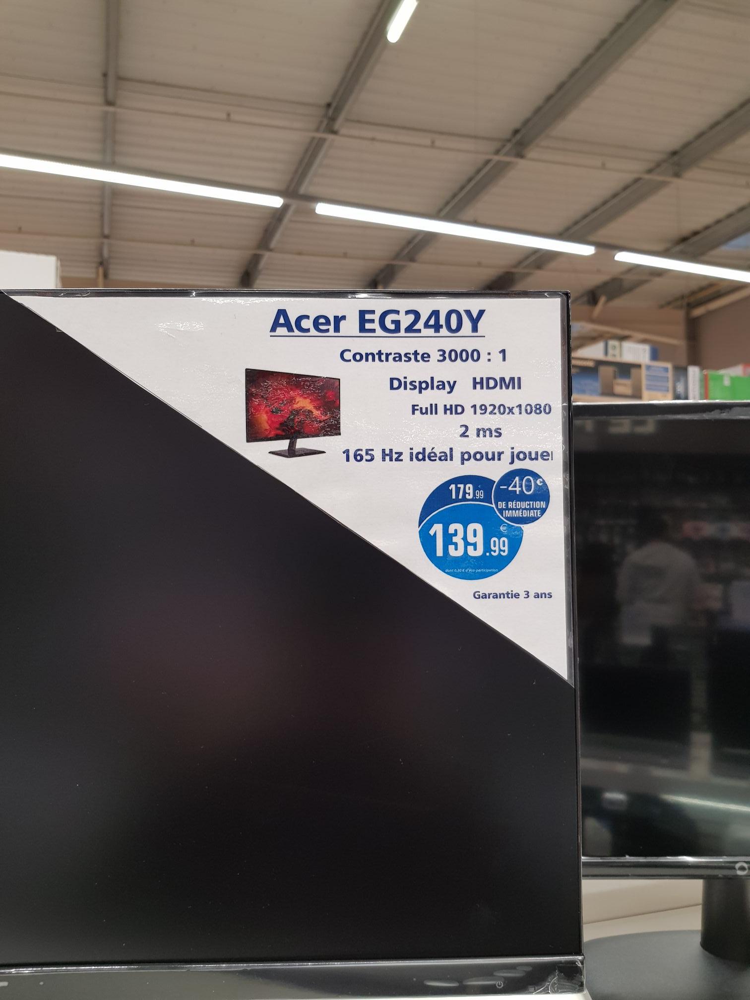 "Écran PC 23,8"" Acer EG240YPbipx - Full HD, IPS, 2ms, 165Hz, HDR, FreeSync (Lanester 56)"