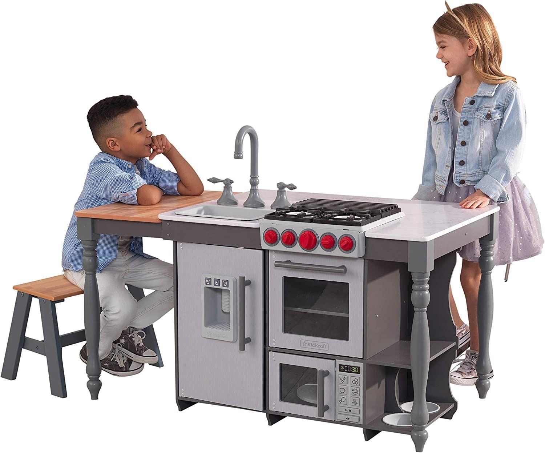 Dinette Cuisine en bois avec sons, lumières et machine à glaçons pour enfant KidKraft Chef's Cook N Create Island (53420)