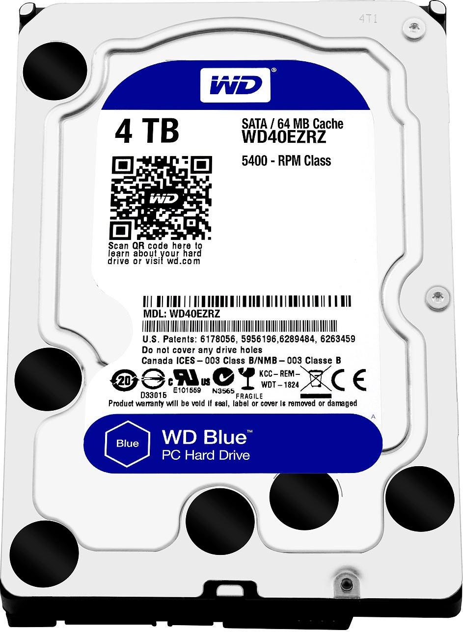 "Disque dur interne 3.5"" Western Digital Blue Desktop SATA CMR - 4 To"