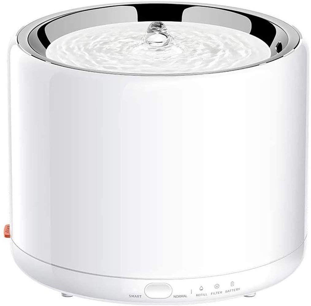 Fontaine à Eau pour Chat Petkit - Acier Inoxydable, 1,35L, Lumière LED (Vendeur tiers)