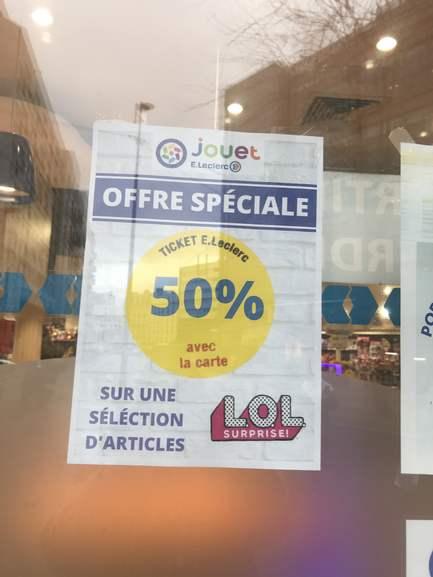 50% offerts en bon d'achat sur une sélection de jouets - Clichy (92)