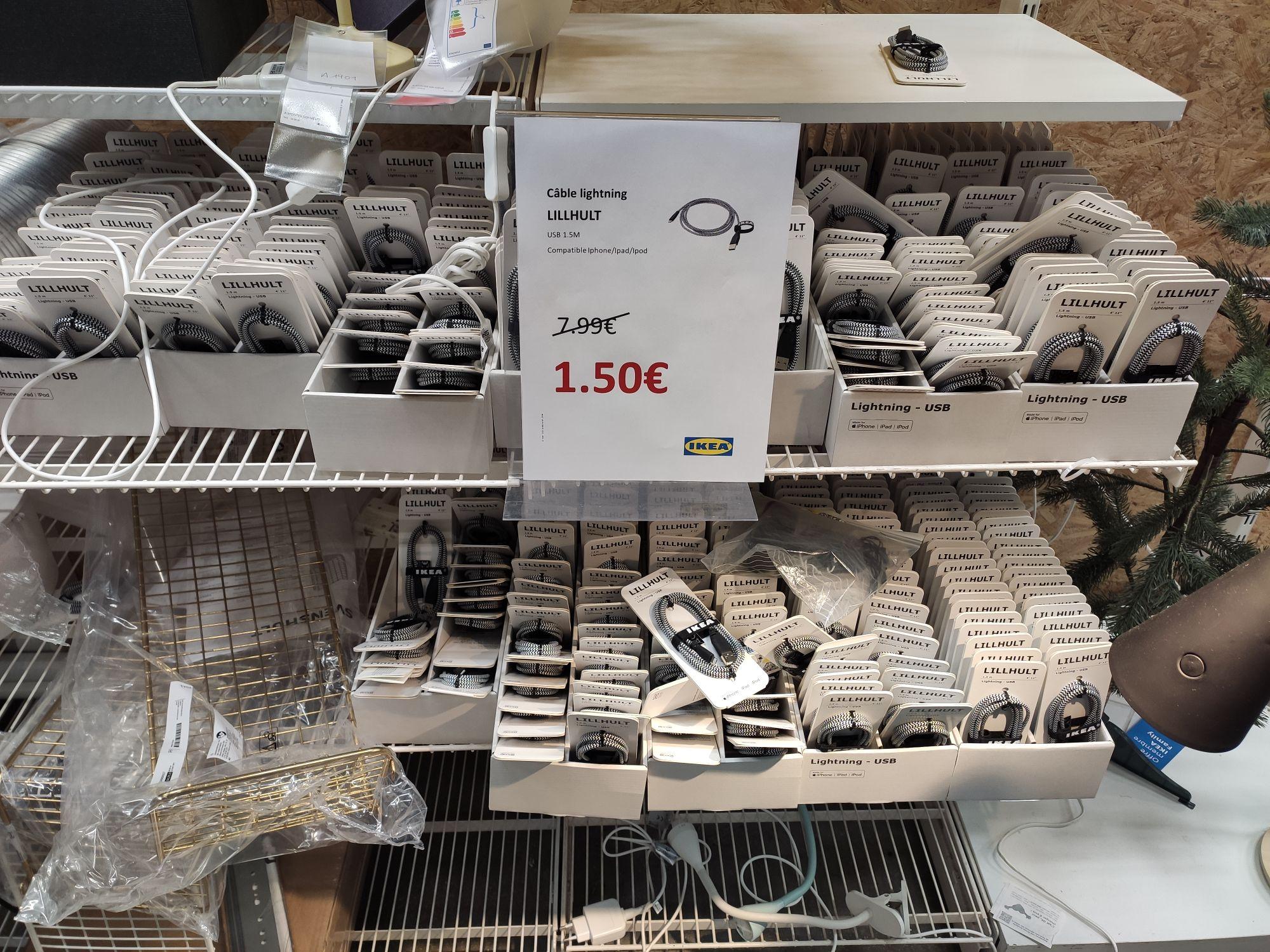 Câble lightning Ikea Lillhut 1,50m - Lomme (59)