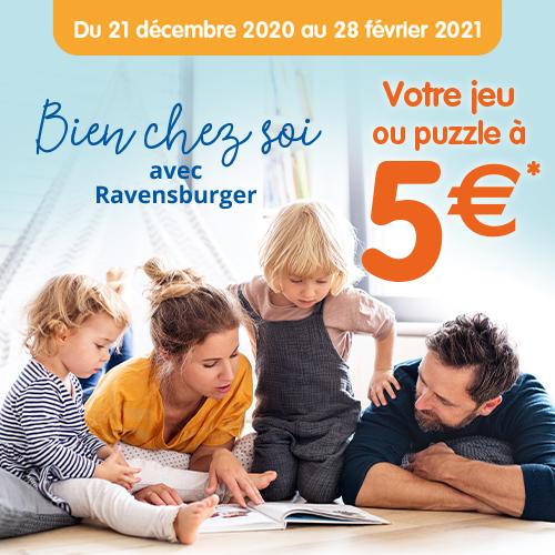 Sélection de jeux ou puzzles Ravensburger à 5€ dans la limite de 10€ de remboursement (via ODR)