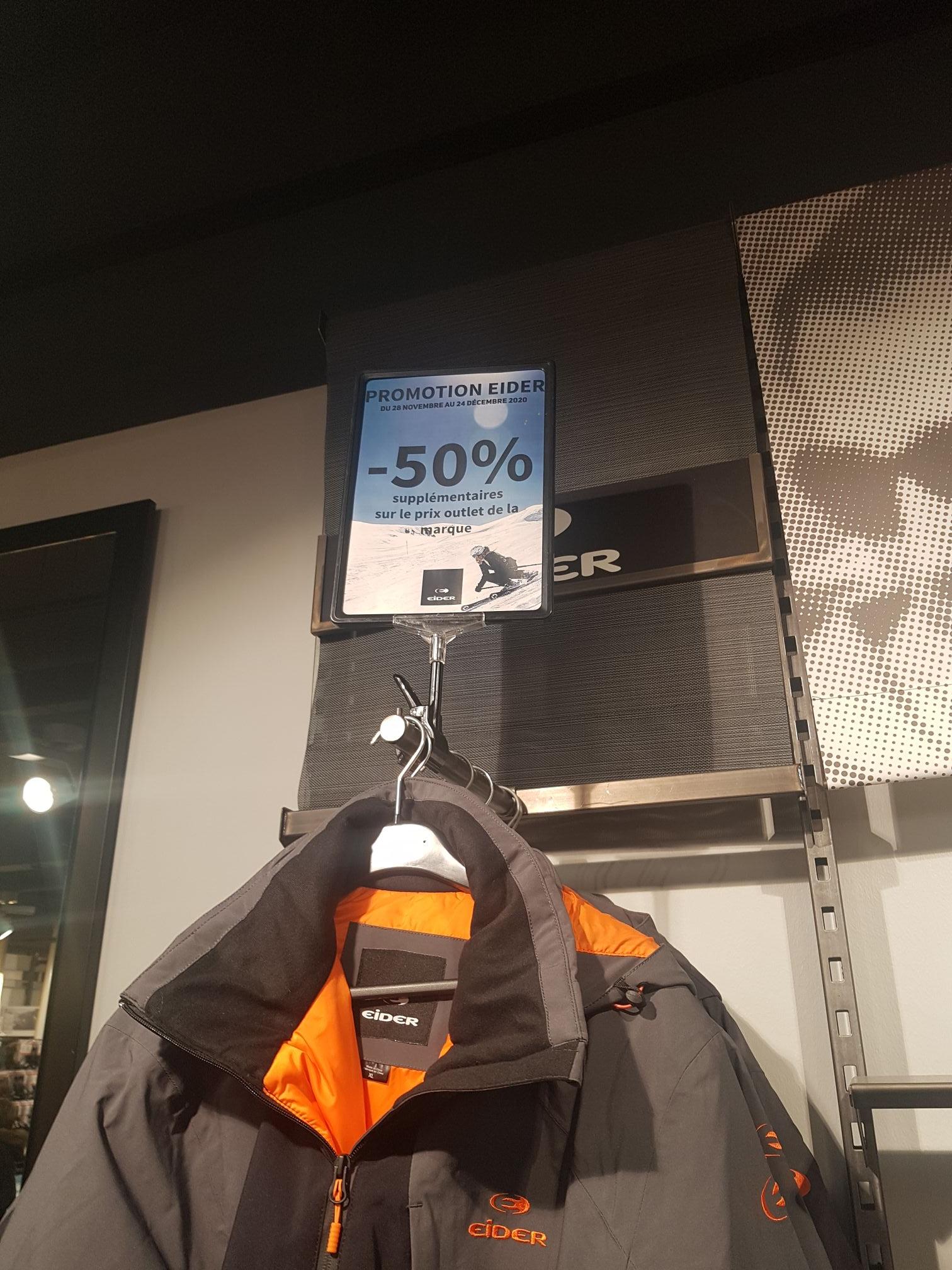 50% de réduction supplémentaire sur le prix Outlet de la marque Eider - Roubaix (59)