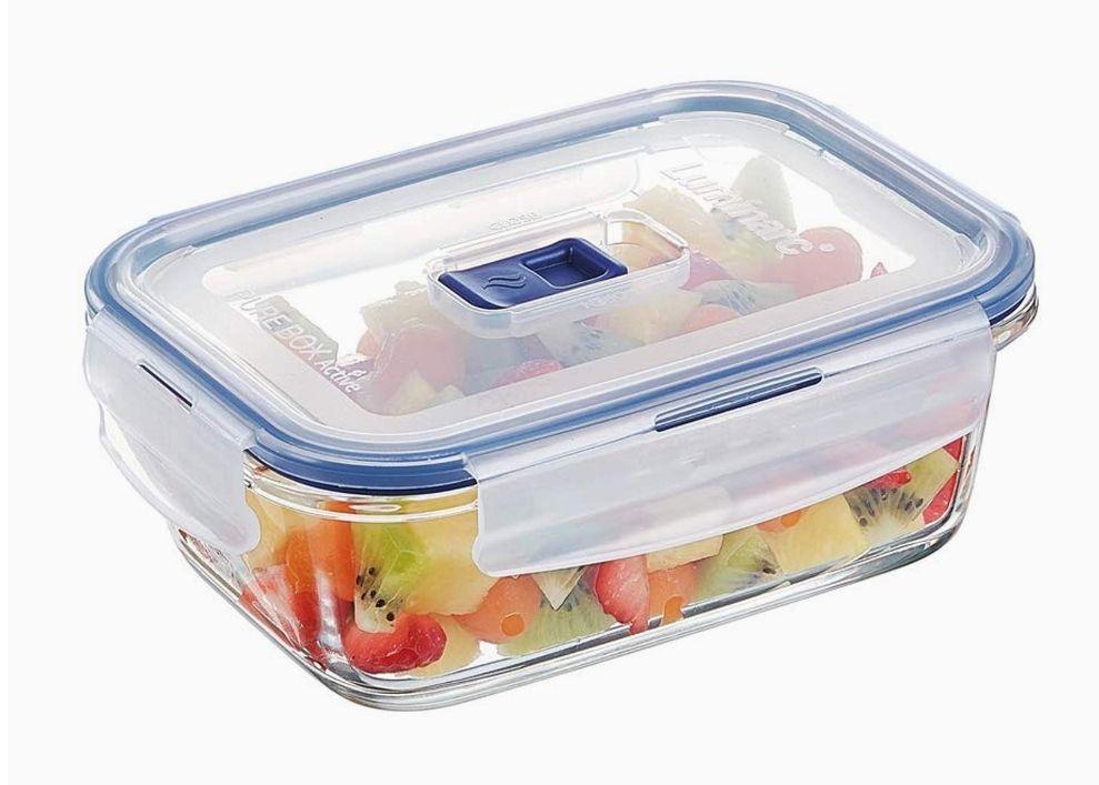 Boîte de Conservation hermétique en verre rectangulaire Luminarc Pure Box Active - 0,82 L