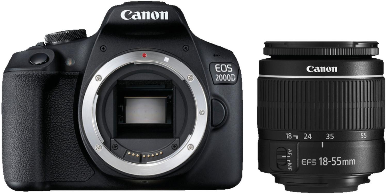 Kit appareil photo Canon EOS 2000D (24.1 Mpix, CMOS) + objectif 18-55mm DC III