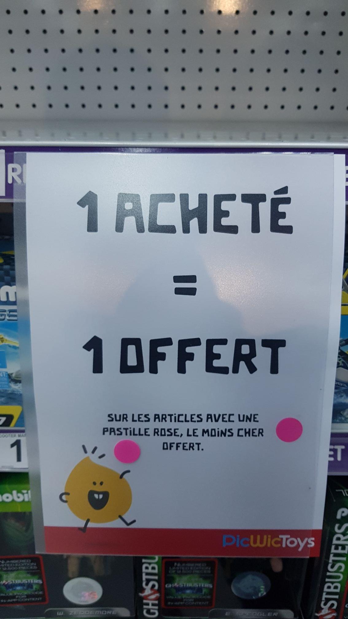 1 article acheté sur les articles possédant une pastille rose = 1 article offert (le moins cher) - Clermont-Ferrand (63)