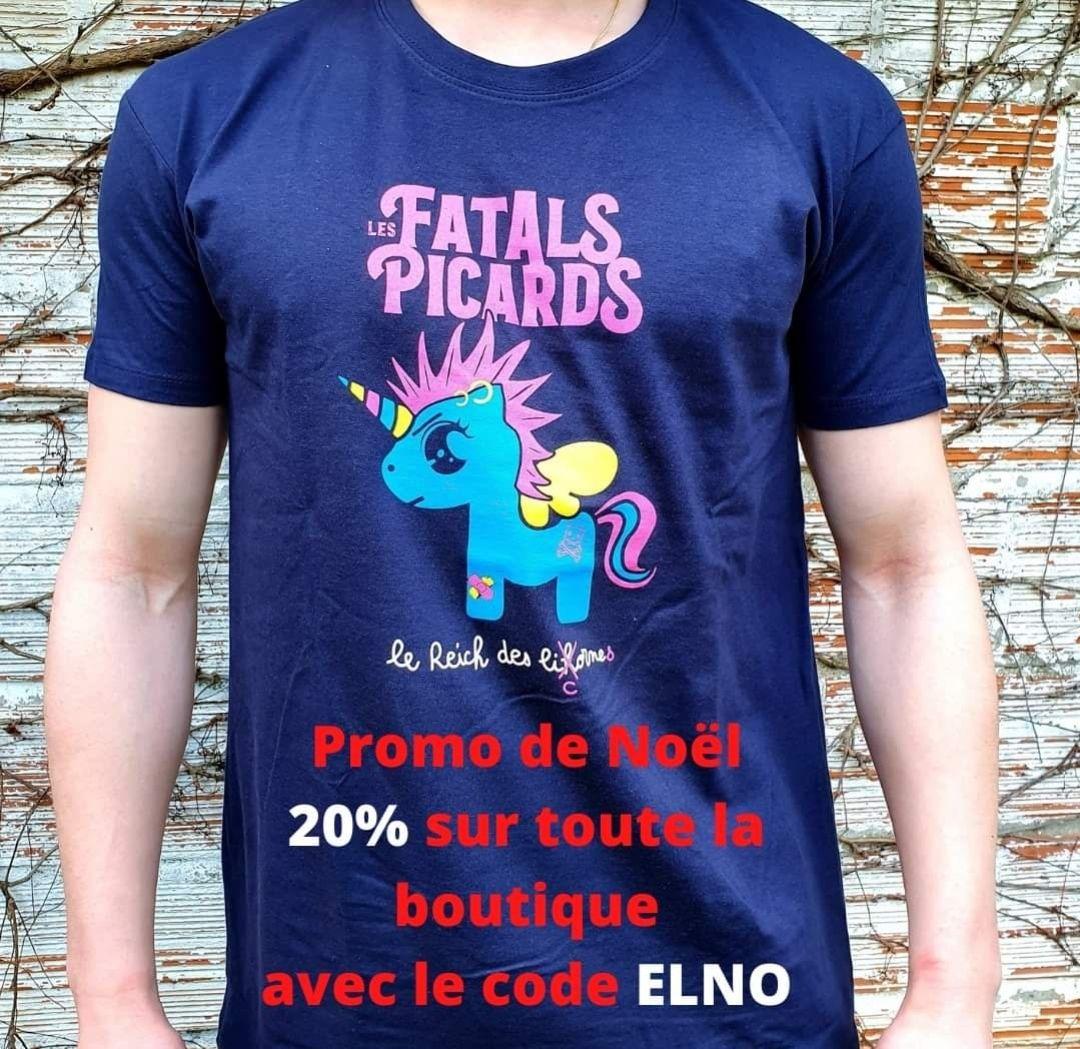 20% de réduction sur toute la boutique du groupe Les Fatals Picards - DifyMusic.com