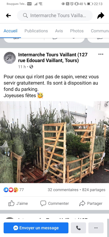 Sapins de Noël offert en libre service - Tours (37)