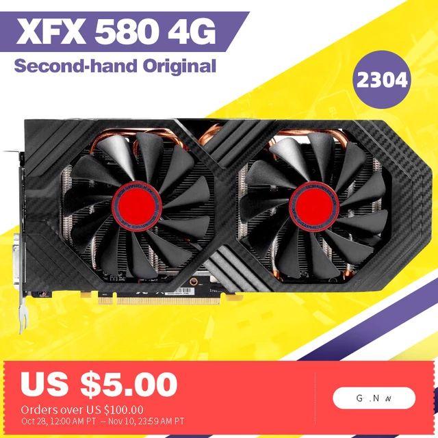 Carte Graphique XFX RX 580 4Go (Occasion)