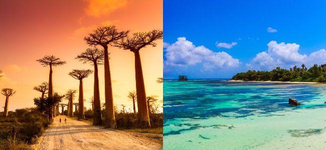 Vol Open jaw au départ de Paris (CDG) vers Madagascar et Réunion - Ex: 6 juin au 22 juin 2021