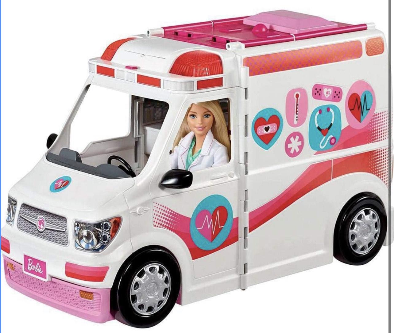 Véhicule Médical rose et blanc pour poupée Barbie