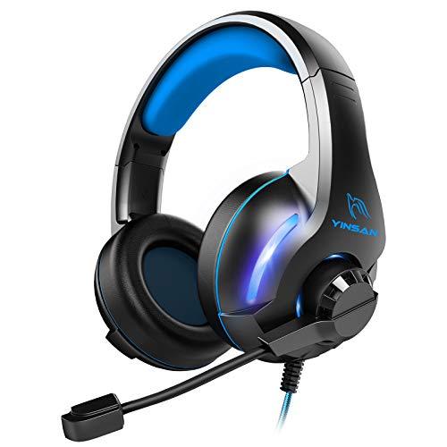 Casque gaming filaire Yinsan TM7 pour Console et PC, Bleu (Vendeur tiers)