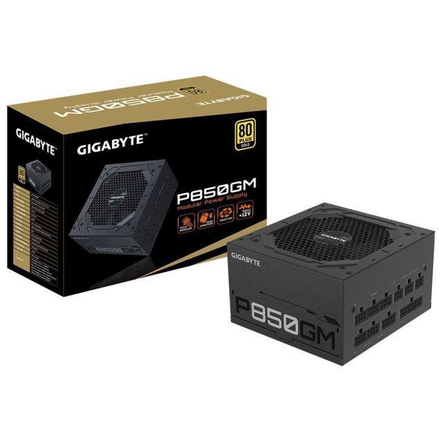 Alimentation PC ATX Gigabyte P850GM - Modulaire, 850W, 80+ Gold