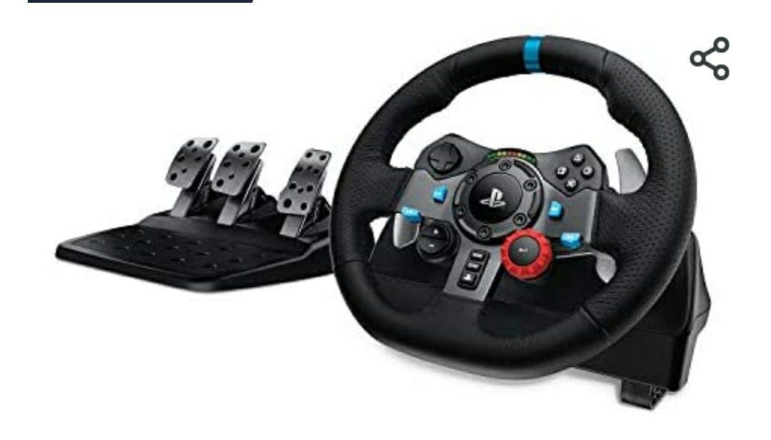 Volant Logitech G29 avec Pédalier pou PS5, PS4 et PC
