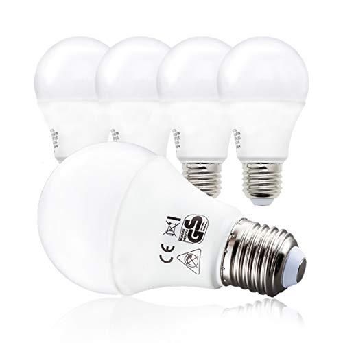 Lot de 5 ampoules LED B.K.Licht E27 - 9W, 230V, 2700K, 806 Lumens (vendeur tiers)