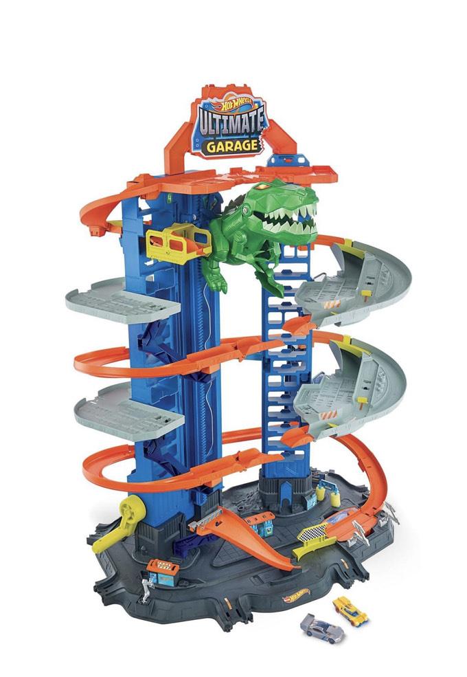 Garage Mattel Hot Wheels City Super Dino Robot (Va 30€ sur Carte fidélité)