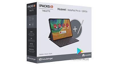 "Pack tablette tactile 10.8"" Huawei MatePad Pro (WQHD+, Kirin 990, 6 Go de RAM, 128 Go, sans services Google) + clavier + stylet"