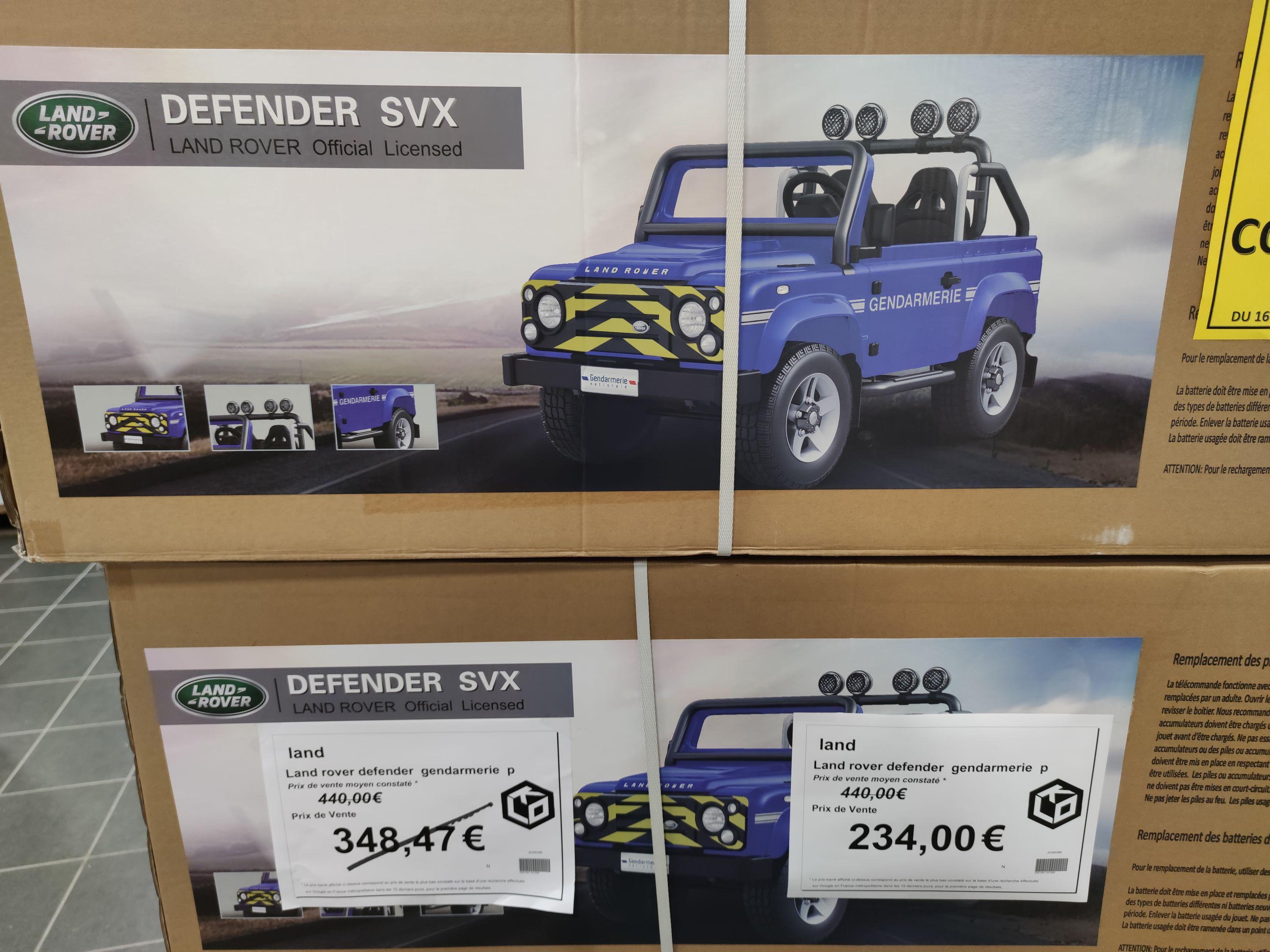 Sélection de porteurs électriques en promotion - Ex : Land Rover Defender SVX Gendarmie - KLO à Arques (62)