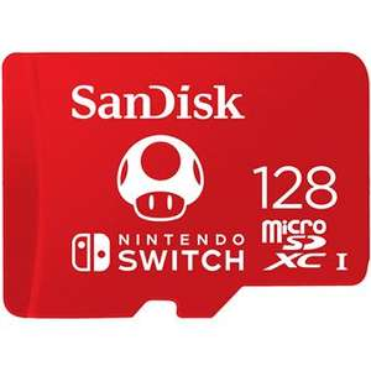 Carte mémoire microSD SanDisk pour Nintendo Switch - 128 Go