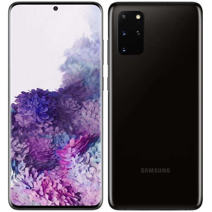 """Smartphone 6.7"""" Samsung Galaxy S20 Plus - WQHD+, Exynos 990, 8 Go RAM, 128 Go, Noir (vendeur tiers)"""