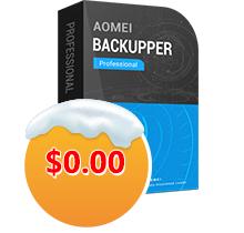 Sélection de logiciels Aomei gratuits (Dématérialisé) - Ex: AOmei Backupper Pro (AomeiTech.com)