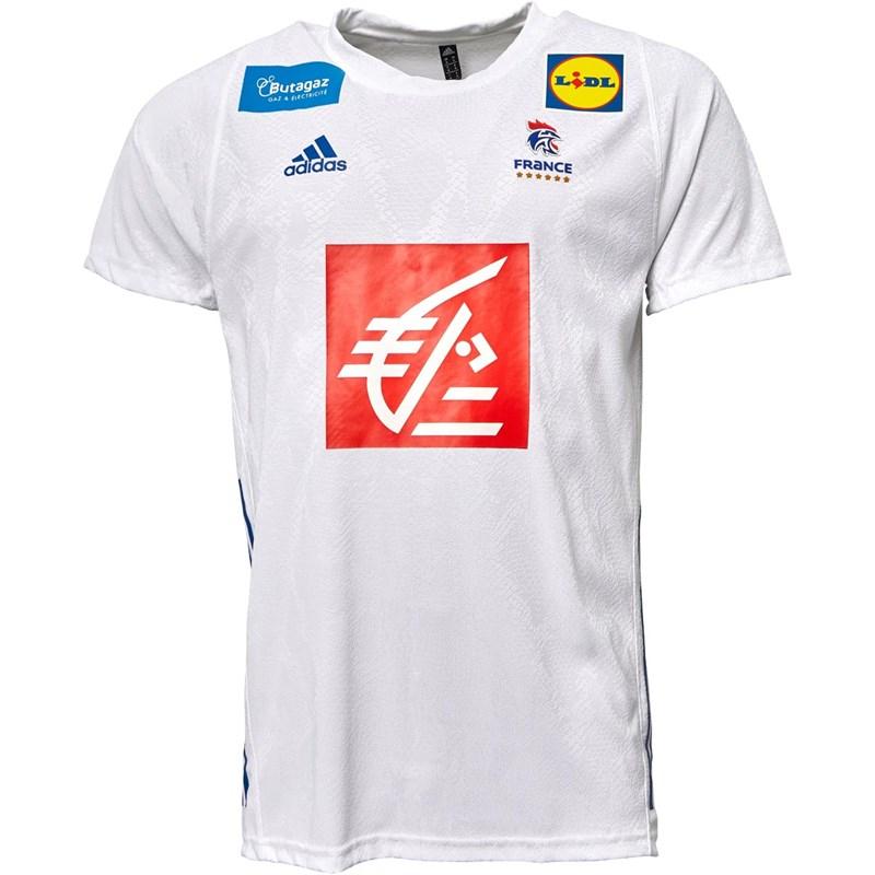 Maillot de handball adidas Équipe de France FFR Extérieur - blanc (du XS au XL)