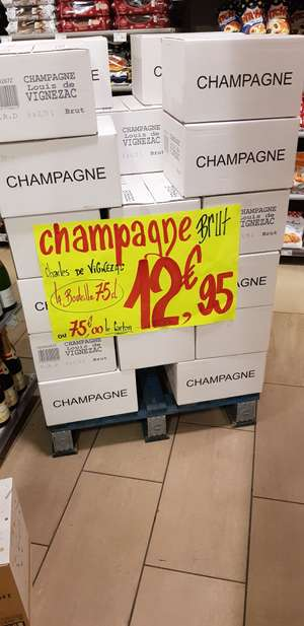 1 Bouteille de Champagne Louis de Vignezac, 75cl - Carrefour Express Haspres (59)